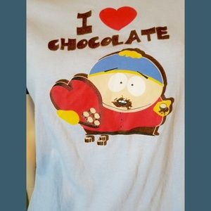 South Park Cartman I ❤️ Chocolate Funny T-shirt